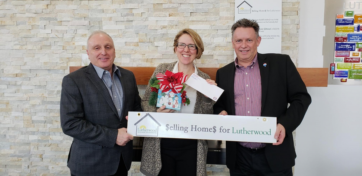 Ian Inglis from the Inglis Team at the Lutherwood Cheque Presentation