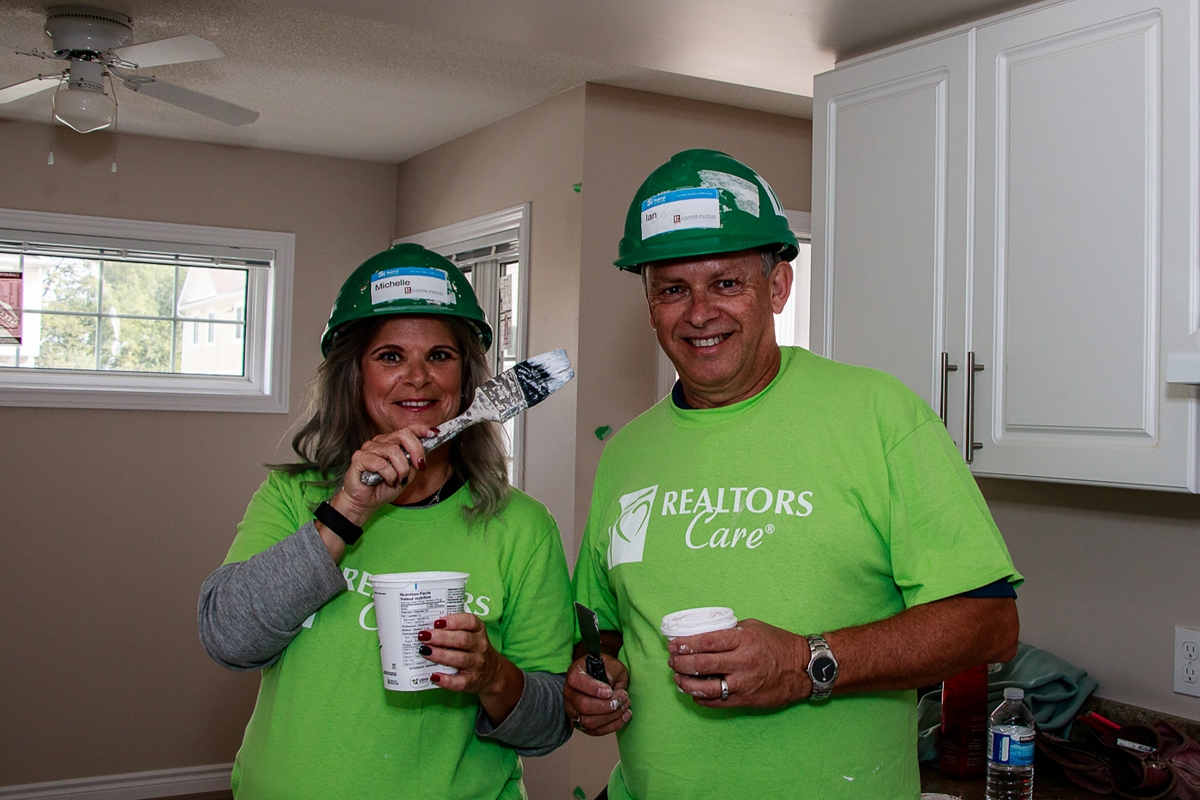 Michelle and Ian from The Inglis Team Helping Out at Habitat for Humanity